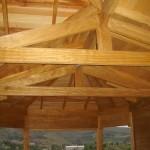 estrutura de madeira telhado destaque