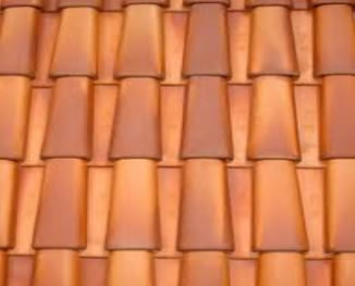 Barro belo telhas